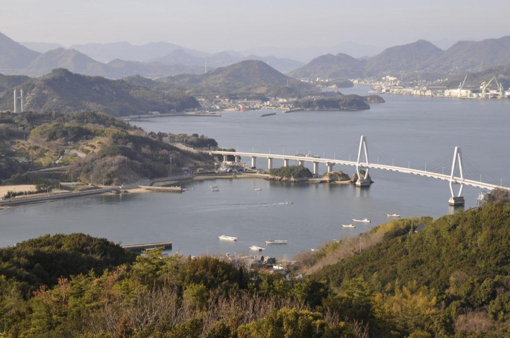 久司山展望台よりゆめしま海道を望む